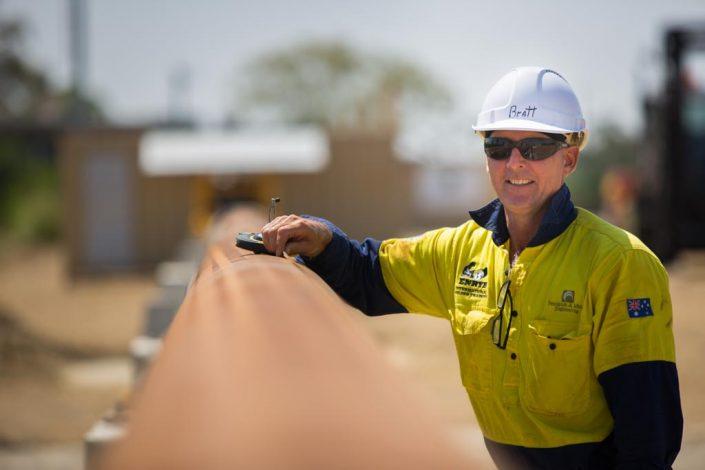 Australian gas pipeline project